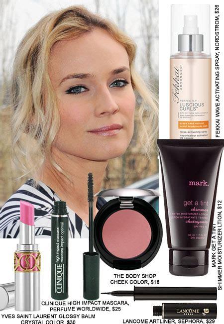 copy diane krugers fashion week hair makeup beauty