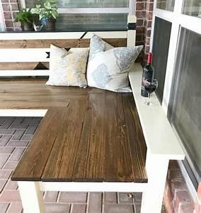 l shaped diy outdoor bench diyideacenter