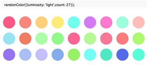 random color javascript randomcolor js 色相や輝度を指定して魅力的な色をランダム生成することができるライブラリ ソフト