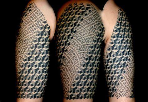 polynesian  escher inspired tattoos scene