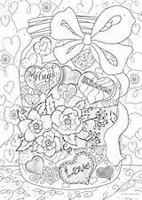 Coloring Adults Hearts Adult Animal Printable Jar Detailed Sheets Mandala Ivy Joy Letter Favoreads Getdrawings Heart Valentine sketch template