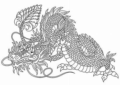 Dragon Coloring Dragons Pages Adults Mischievous Justcolor
