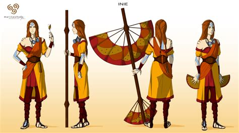 Inie -avatar Character Concept Design- By Marina-shads On