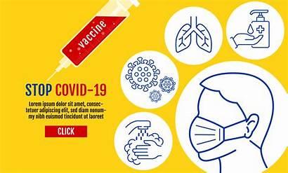 Covid Stop Banner Template Mask Coronavirus Wearing