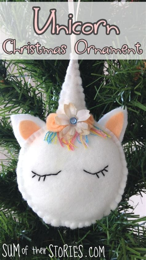tutorial  pattern felt unicorn christmas ornament sewing