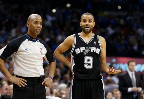 san antonio spurs guard tony parker  talks  referee  san antonio express news