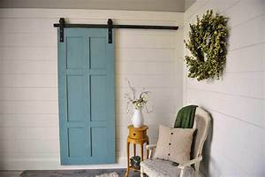 ideas to have a classic barn door in your interior designs With 6 panel sliding barn door