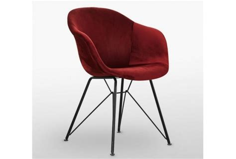 valentina velvet chair red absolute home