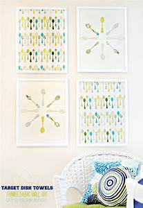 How to make framed fabric wall art with target kitchen