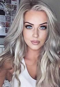 Blond Grau Haarfarbe : die besten blonde frisuren haarfarben ideen 2018 hairstyles pinterest haar ideen blonde ~ Frokenaadalensverden.com Haus und Dekorationen