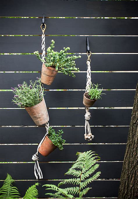 fence hanging planters diy stylish hanging vertical garden house design and decor