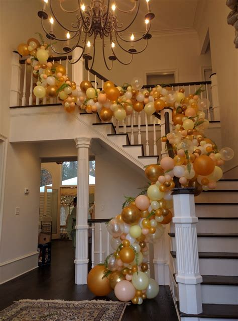 staircase floral design  dancing orchid