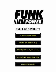 Funk Power Df Series 150  U0026 250 Transmission Pdf Manuals