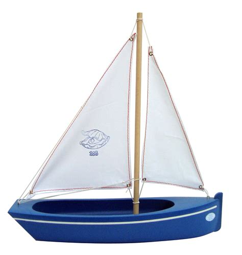 Sailing Boat Toy by Small Toy Boat 108 Clam Blue 32 Little French Heart