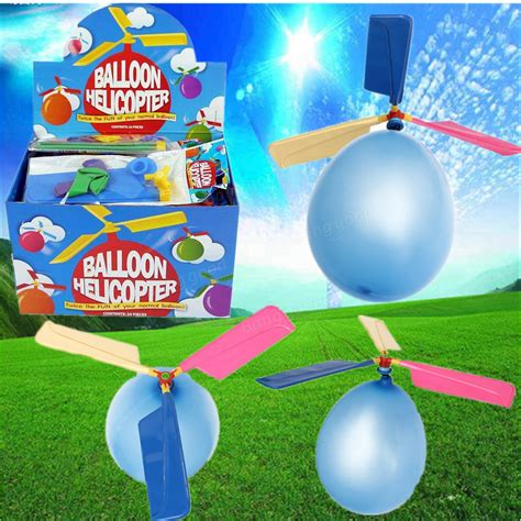 20x Colorful Traditional Classic Balloon Helicopter