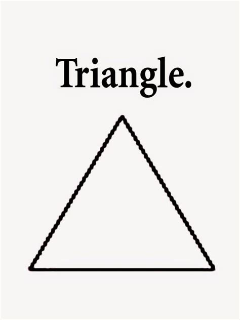 triangle coloring pages walkers july aug pinterest