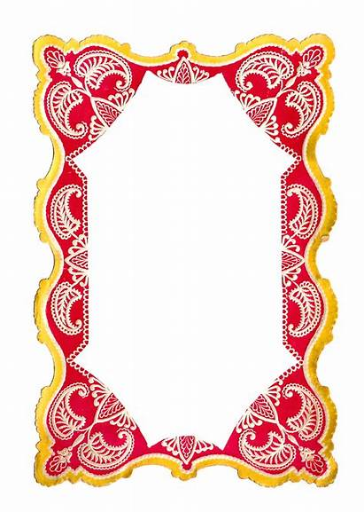 Clip Frame Paper Printable Digital Yellow Antique