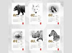 27 Creative Calendar Designs Inspiration 2017 Web