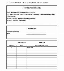 engineering change order template beneficialholdingsinfo With eco form template