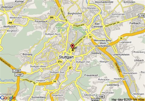stuttgart on map map of le meridien stuttgart stuttgart