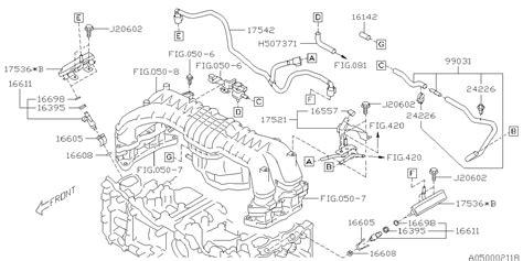 Subaru Intake Manifold Diagram by 99031aa010 Genuine Subaru Hose Assy Vacuum