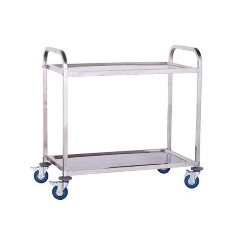 materiel de cuisine pro d occasion chariot de service en inox 2 niveaux