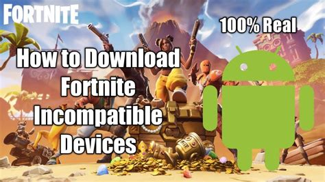 fortnite android mobile incompatible