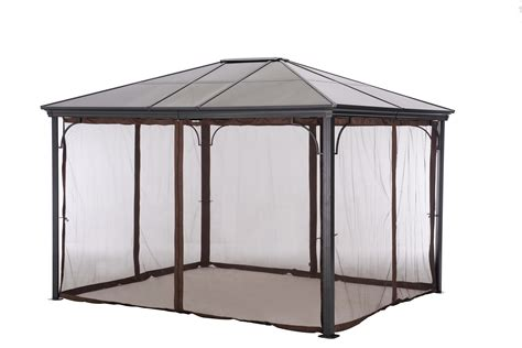 screened canopy gazebo target gazebos  pergola replacement canopy metal screened sc  st