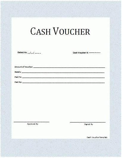 Voucher Cash Template Templates Word Payment Form