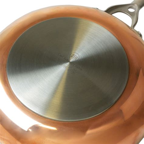 copper frypan fry pan  stainless steel induction oven safe