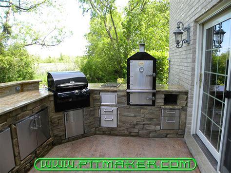 outdoor kitchen designs with smoker pitmaker in houston 800 299 9005 281 359 7487 7238