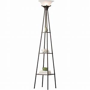 floor lamps mainstays aba surprising rice paperr lamp With mainstays dark wood floor lamp gray