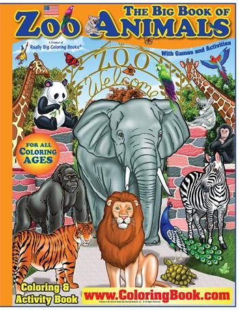 coloring books zoo animals  big coloring book