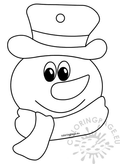 snowman coloring page snowman coloring child sketch coloring page