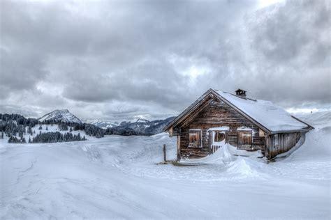 Winter Snow Chalet Cool Mountain House Winter Snow Hut