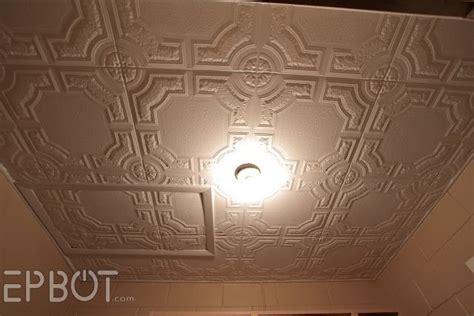 styrofoam ceiling tiles cheap epbot diy faux tin tile ceiling styrofoam ceiling tiles
