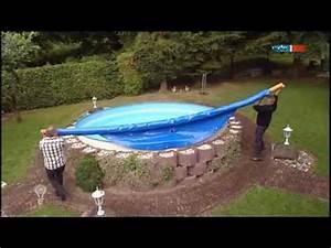 die aufblasbare pool abdeckung mdr einfach genial 13 With französischer balkon mit whirlpool rund garten
