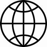 Icon Globe Web Earth Global Network Planet
