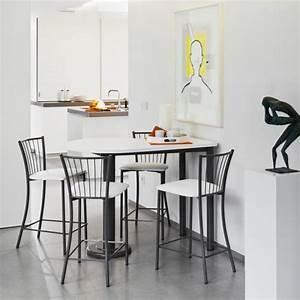 Table Cuisine Petit Espace : table snack de cuisine demi oblongue en stratifi et m tal pour petit espace lucca ~ Teatrodelosmanantiales.com Idées de Décoration