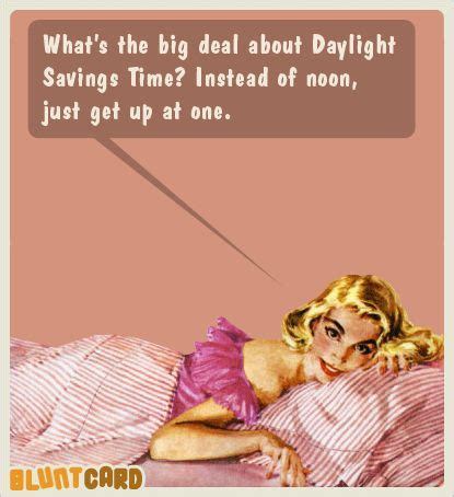 whats big deal daylight savings time funny