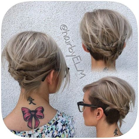 Fancy Pixie Hairstyle by 25 Best Ideas About Pixie Updo On Styling