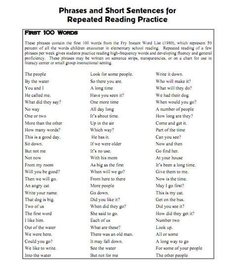 texas reading first second grade fluency folder 1000