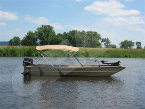 Lowe Deck Boat Bimini Top by Canopy Tops For Jon Boats Pictures To Pin On