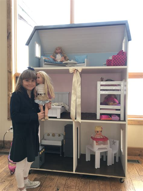 ana white american girl  story doll house  furniture