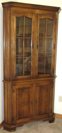 Ethan Allen Corner Curio Cabinet by Sold Custom Order Vintage Kling Furniture Dresser Or