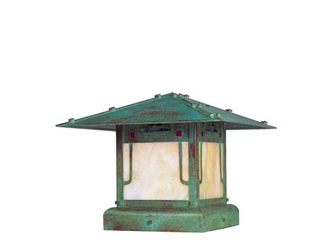 arroyo craftsman pagoda outdoor column pier mount light