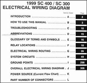 1999 Lexus Sc 300  400 Wiring Diagram Manual