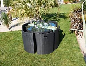 Tables Rondes De Jardin : salon de jardin table ronde ~ Premium-room.com Idées de Décoration