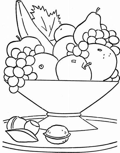 Bowl Fruit Drawing Getdrawings
