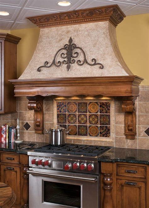 decorative oven hoods   Decorative Kitchen Range Hood Wood